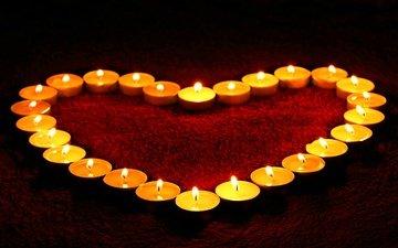 свечи, зима, сердце, любовь, романтика, руки, романтик, день святого валентина, варежки, влюбленная, сладенько, валентинов день, сердечка