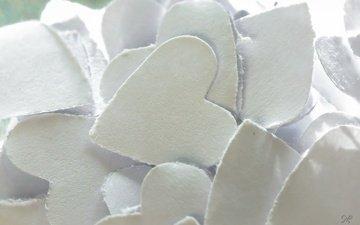 макро, бумага, сердца, день святого валентина