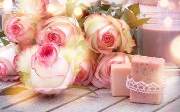 цветы, бутоны, розы, романтик, цветы, роз, влюбленная, пинк, сердечка