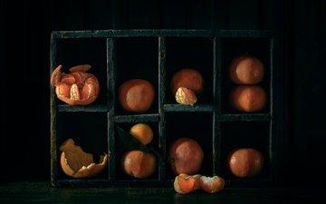 дольки, мандарины, кожура