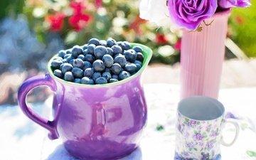 картина, ягоды, лесные ягоды, живопись, натюрморт, голубика, парное, летнее, черничный