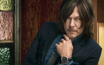 look, actor, watch, face, male, 2016, norman reedus, cartier