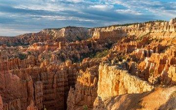 небо, каньон, брайс каньон национальный парк