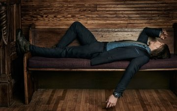 actor, lies, watch, resting, costume, shop, shoes, photoshoot, jacket, pants, 2016, norman reedus, cartier, roger erickson