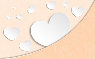 texture, background, paper, heart, hearts, valentine's day, wallpaper