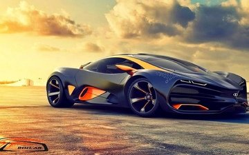the sun, car, sky, concept, the concept, supercar, lada