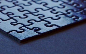 macro, puzzles, puzzle, corner