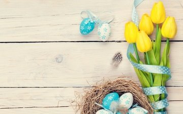 tulips, easter, easter eggs, eggs, spring, colorful, happy easter