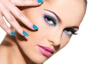 портрет, взгляд, девочка, модель, лицо, макияж, мода, брюнет, маникюр, грим