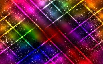 абстракт, неон, абстракция, линии, фон, цвет, красочная, glittering, сверкание