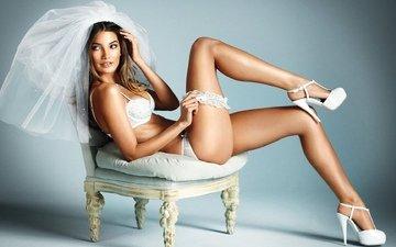 красота, попа, модель, ножки, волосы, секси, тело, нижнее белье, невеста, кувшинка, груди, без задних ног, сексапильная, aldridge
