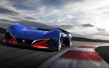 peugeot, concept, racing