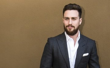 look, actor, face, beard, aaron taylor-johnson, under cover of night, nocturnal animals, aaron taylor johnson