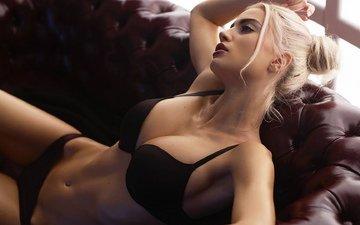 девушка, блондинка, красавица, грудь, ножки, волосы, фигура, белье, kate_tyga