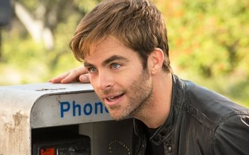 look, actor, face, male, phone, jacket, chris pine