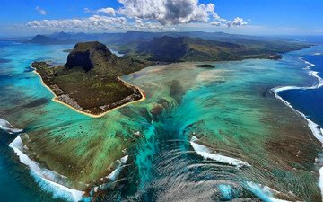 the ocean, the volcano, anomaly, reefs