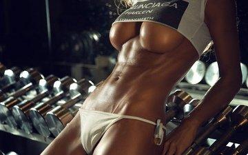 girls, white, shirt, fitness, pretty, legs, abs, skin, perfect, tits, slips