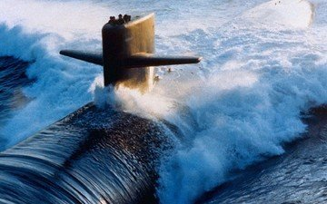 boat, submarine, submarine of the russian
