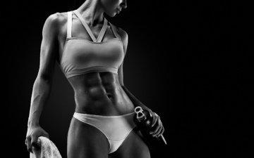 девушка, спорт, фитнес, атлетика