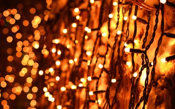 light, new year, light bulb, lights, garland
