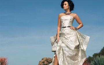 девушка, платье, актриса, певица, вечернее платье, деми ловато
