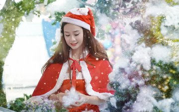 new year, girls, costume, holiday, christmas, asian, maiden