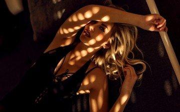 девушка, блондинка, портрет, миро hofmann, миро hofman, nпортрет
