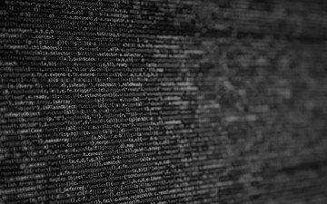 чёрно-белое, монитор, фотография, компьютер, код, монохромный.компьютер, программирование, html, веб-разработка, размытый