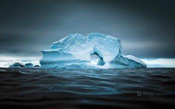 landscape, sea, iceberg, ice, arctic, bing