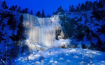 nature, winter, waterfall, ice, finland, bing