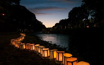 night, japan, lantern, the lantern festival, kanto matsuri, tradition