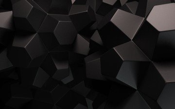 abstraction, background, black, geometry, faces, render, 3d