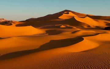 природа, песок, пустыня, бархан, сахара, алжир, дюна