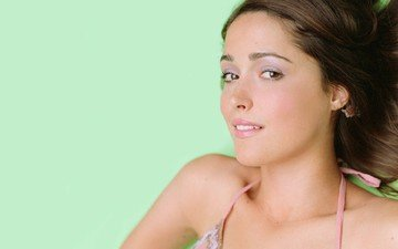girl, brunette, look, hair, face, rose byrne, pink lipstick