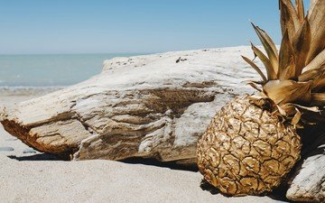 пейзаж, пляж, ананас