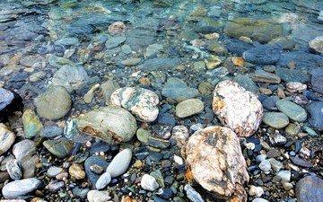 вода, камни, берег, новая зеландия