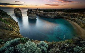 скалы, закат, море, остров, австралия, арка, осторов, аustralia