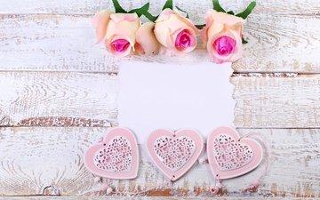 розы, лепестки, сердечки, романтик, пастель, цветы, розовые розы, роз, влюбленная, пинк, сердечка