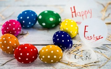 easter, holiday, eggs, spring, happy, colorful, the painted eggs
