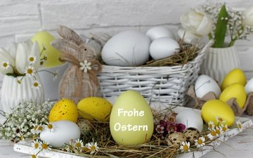 flowers, easter, eggs, decoration, spring, happy, the painted eggs