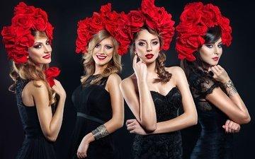 цветы, девушки, девочки, модели, цветы, amadeus, amadeus electric quartet