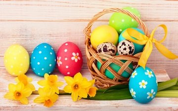 flowers, easter, eggs, spring, happy, the painted eggs