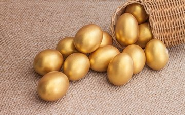easter, gold, eggs, spring, golden, happy, the painted eggs