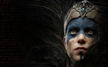 girl, face, hellblade:senua''s sacrifice, ninja theory, game
