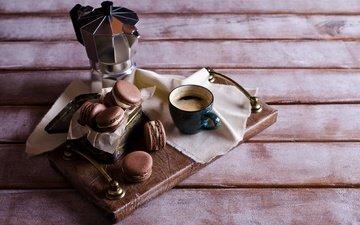 кофе, чашка, печенье, выпечка, десерт, макарун, макаруны, сладенько, миндальное, крем, coffee cup