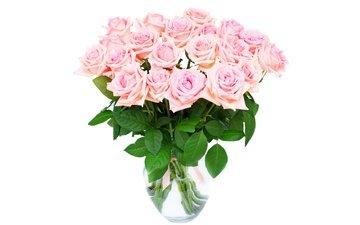 цветы, розы, букет, ваза, романтик, цветы, розовые розы, роз, влюбленная, пинк