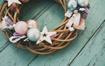 новый год, украшения, рождество, венок, дерева, xmas, декорация, счастливого рождества, елочная