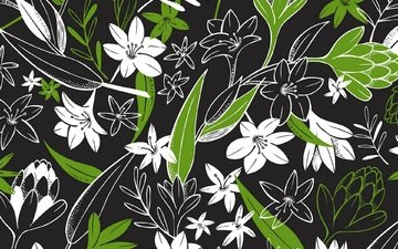 flowers, design, background, pattern, color, form, ornament, floral