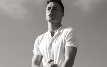 black and white, actor, t-shirt, colton haynes