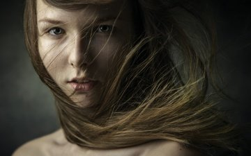 глаза, девушка, портрет, взгляд, волосы, фотограф, дмитрий февралев